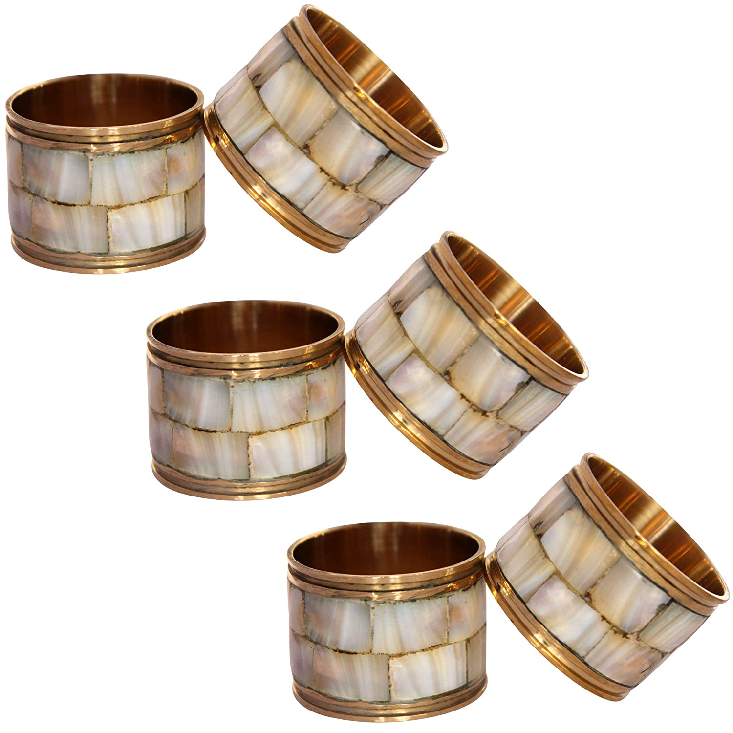 Wooden Napkin Rings Set of 6 - Napkin Ring for Wedding | Crafts | Dinning Tables | Parties | Everyday Decor NR37 Indian Glance