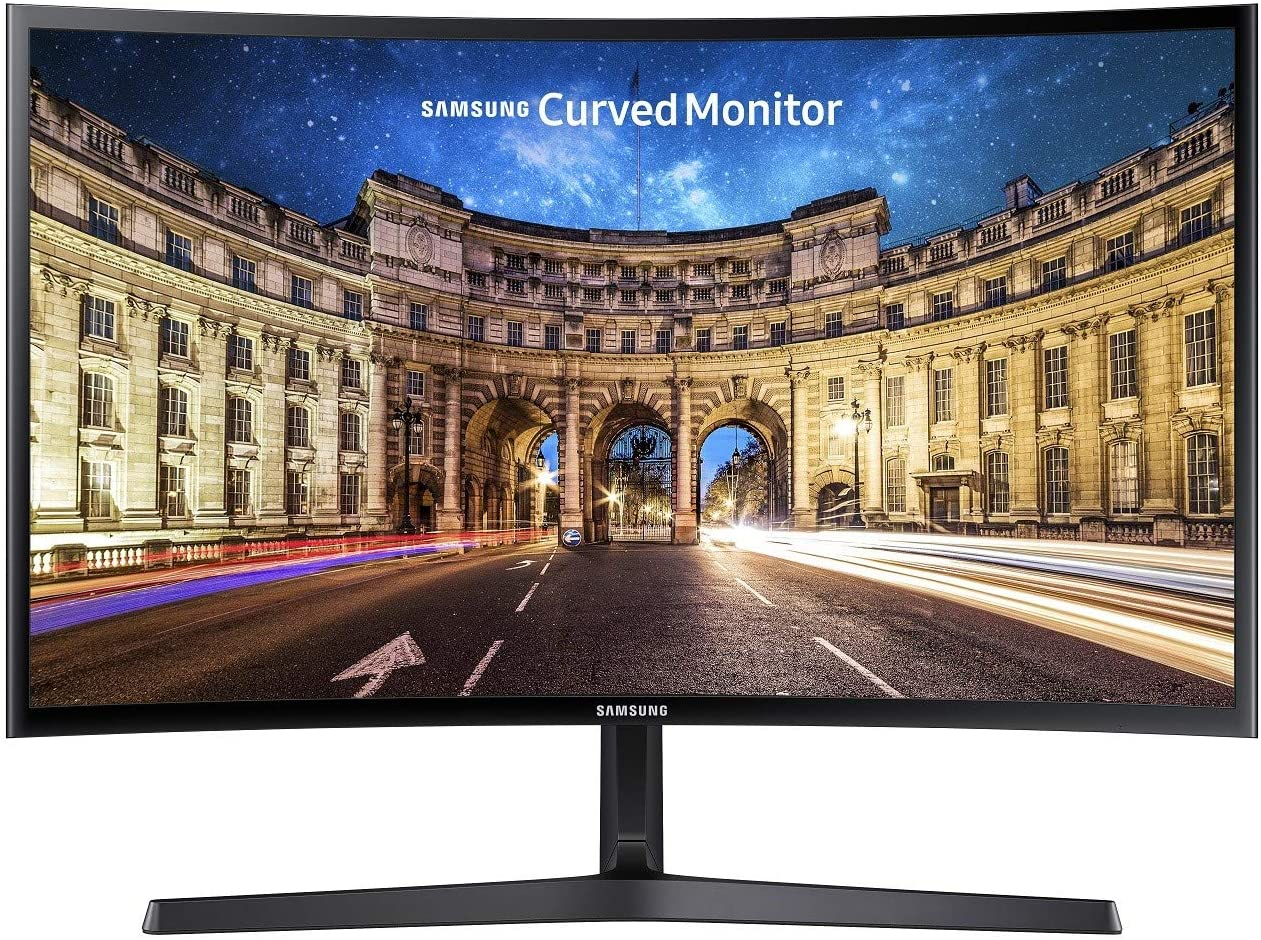 Samsung C24F396 - Monitor Curvo de 24 (Full HD, 4 ms, 60 Hz, FreeSync, Flicker-Free, LED, VA, 16:9, 3000:1, 1800R, 250 cd/m², HDMI, Base en V) Negro: Amazon.es: Informática