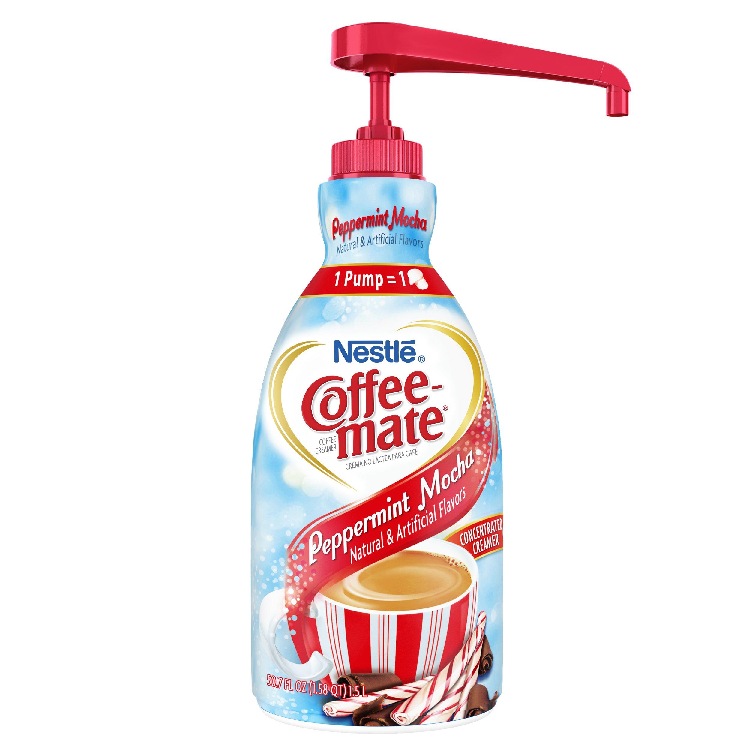Nestle Coffee-mate Coffee Creamer, Peppermint Mocha, liquid pump bottle, 50.7 Fl. Oz (Pack of 1) by Nestle Coffee Mate