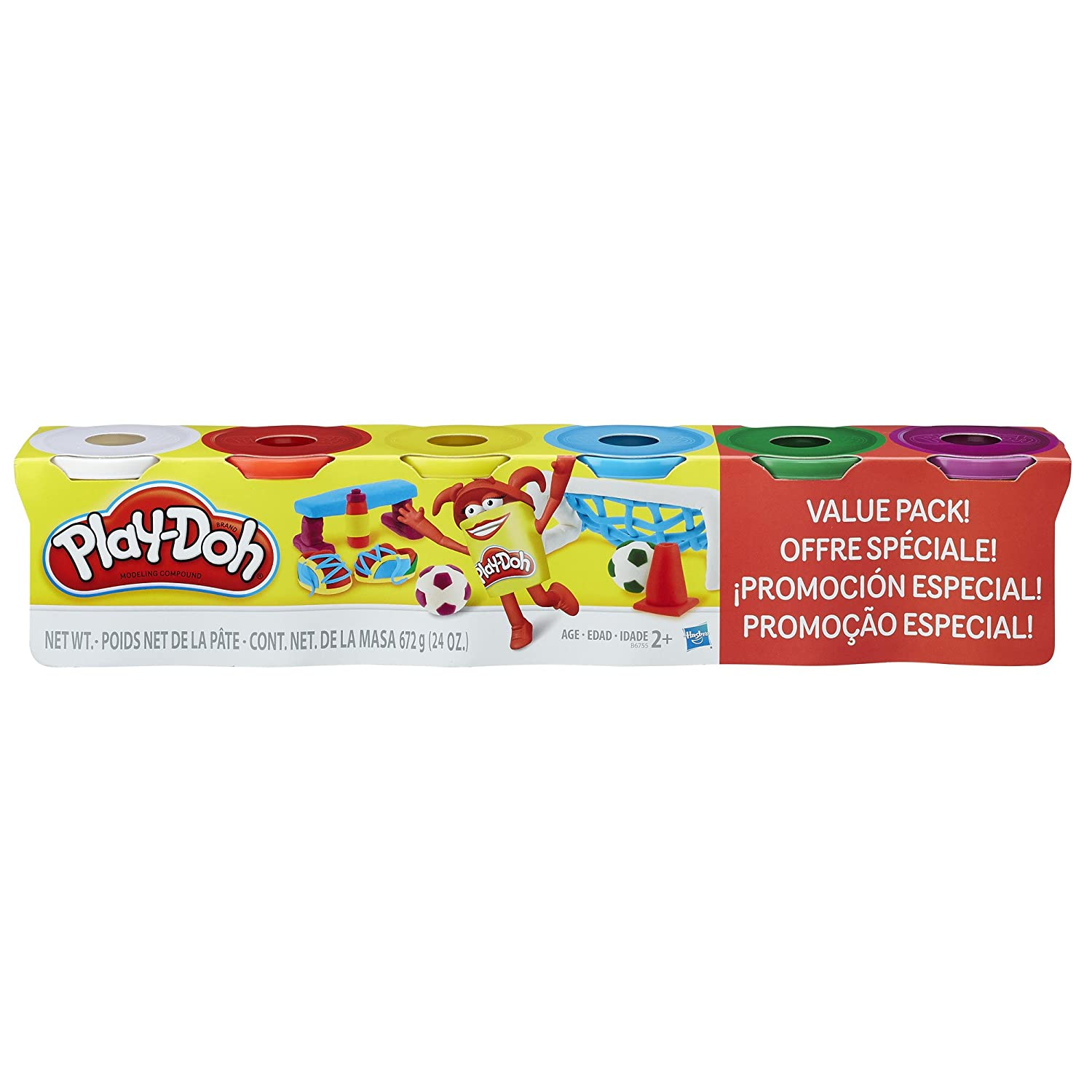 Play-Doh 4 Primary Colors Plus 2 Cans Value Pack Hasbro B6755