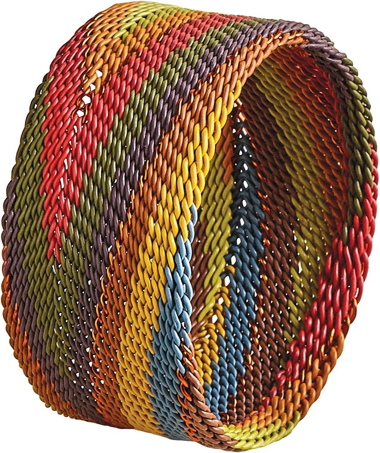 Hand Made in Africa A BRIDGE FOR AFRICA Womens Woven Telephone Wire Bracelet