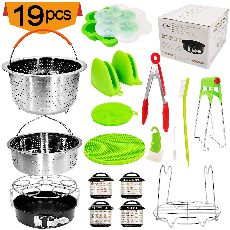 19Pcs Pot Accessories for Pressure Cooker fit 5,6,8Qt Pressure Cooker Pot Accessories Instant