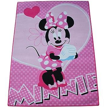 Minni Maus Kinderteppich 133 x 95 cm Teppich Spielteppich ...
