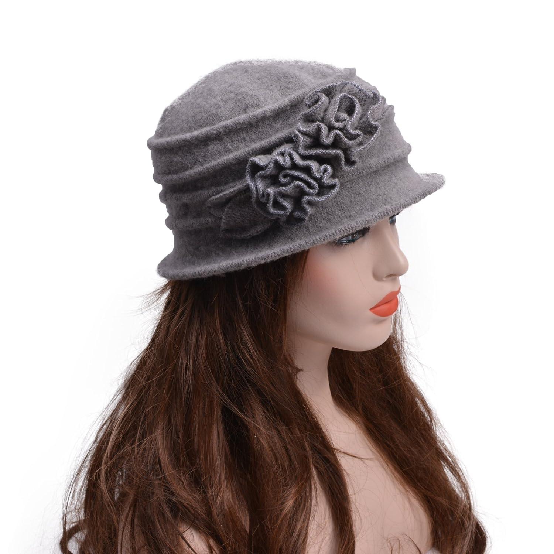 Laine /él/égante Par Lawliet Chapeau vintage pour femme en cloche