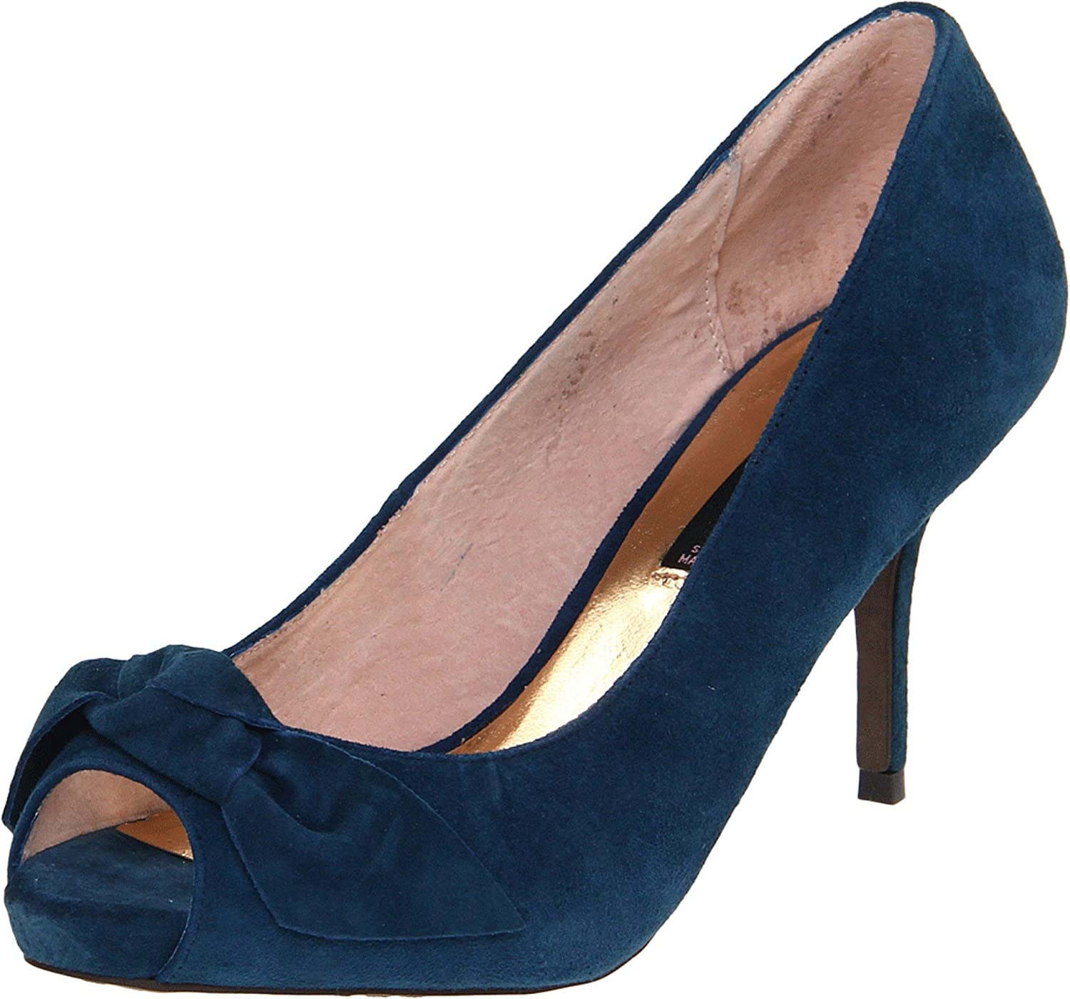 e7ed67dc9587 STEVEN by Steve Madden Women s Mala Open-Toe Pump Navy Suede 8 B(M) US  Buy  Online at Low Prices in India - Amazon.in
