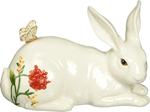 Flower Market Collection, Rabbit Figurine, Reclining, Multicolored