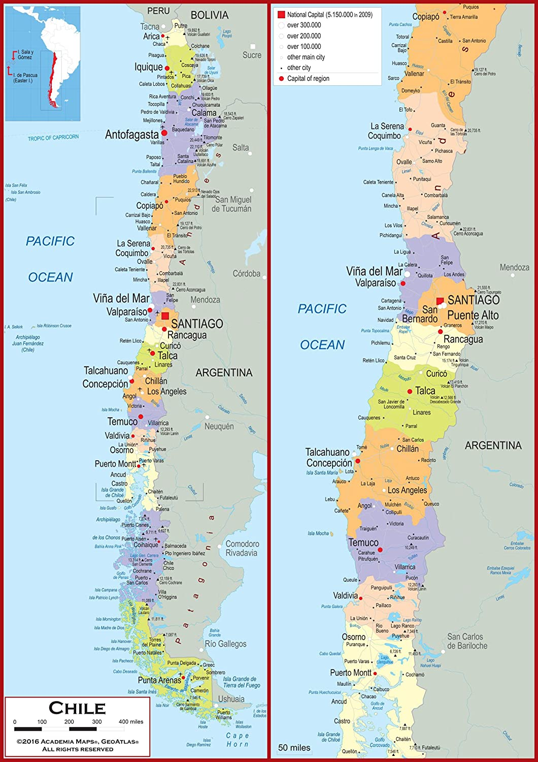 Amazon.com : Academia Maps - Wall Map of Chile - Fully ... on barbados cities map, trinidad cities map, persia cities map, latvia cities map, united states of america cities map, tibet cities map, paraguay cities map, ancient near east cities map, chile coast beach, south sudan cities map, serbia cities map, guinea cities map, baffin island cities map, guam cities map, luxembourg cities map, antarctic cities map, chad cities map, senegal cities map, belarus cities map, slovakia cities map,