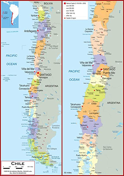 Amazon.com : Academia Maps - Wall Map of Chile - Fully ... on central america on a map, saudi arabia on a map, santiago-chile map, spain on a map, coastal region on a map, southern india on a map, santa domingo on a map, bolivia on a map, colombia on a map, nicaragua on a map, tonga on a map, dr congo on a map, the sudan on a map, honduras on a map, brazil on a map, venezuela on a map, argentina on a map, taiwan on a map, new zealand on a map, cyprus on a map,