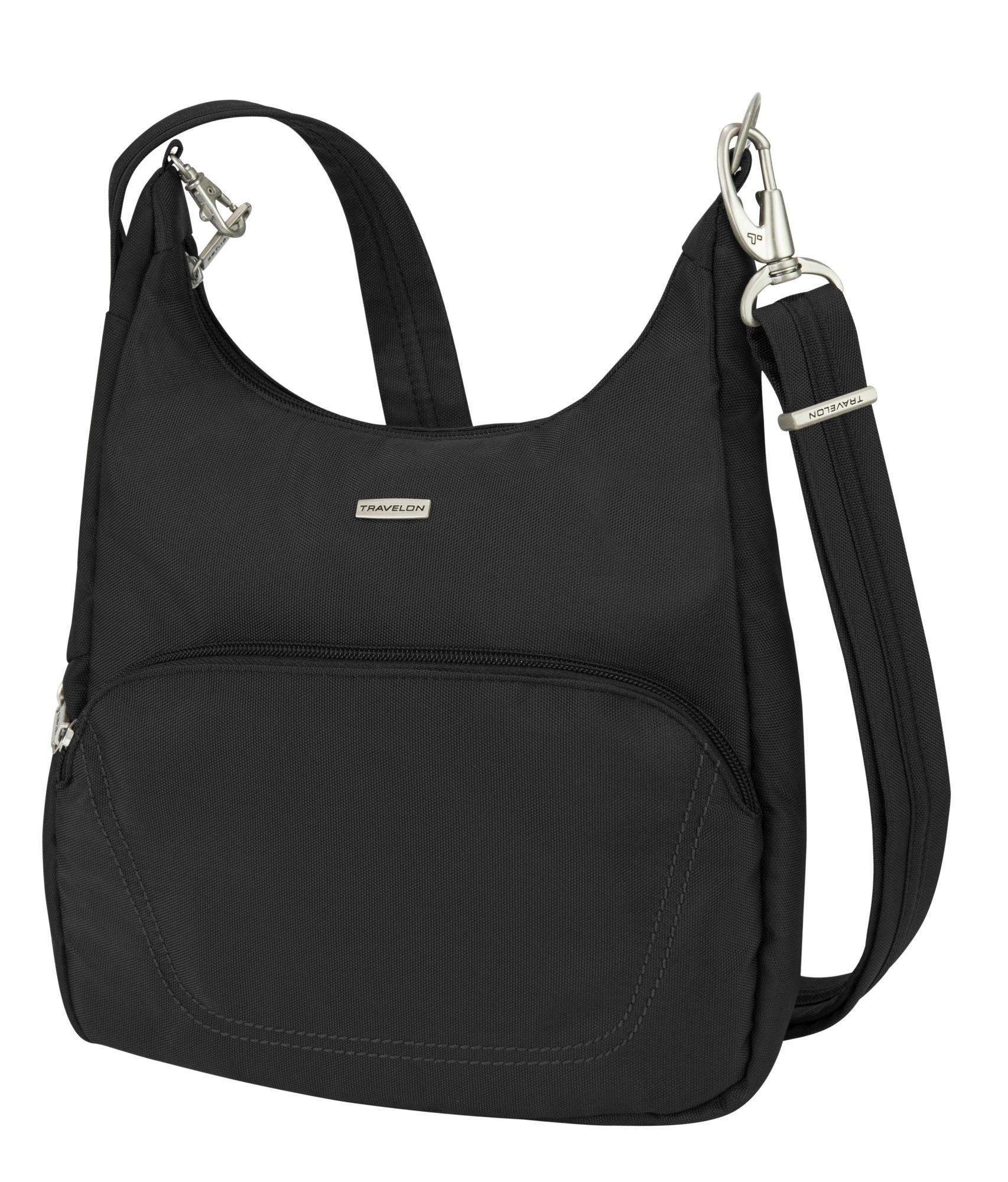 Travelon Anti-Theft Classic Essential Messenger Bag, Black