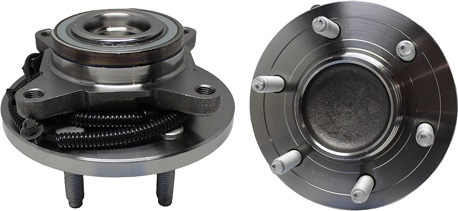 DETROIT AXLE Front Wheel Hub and Bearing Assembly - 2010 Lincoln Navigator 2009-2010 Ford F-150 - Driver and Passenger Side fits 2WD Only 2010 Expedition