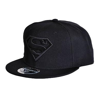 Gorra de béisbol Superman Black Logo negro  Amazon.es  Ropa y accesorios d8d7322a481