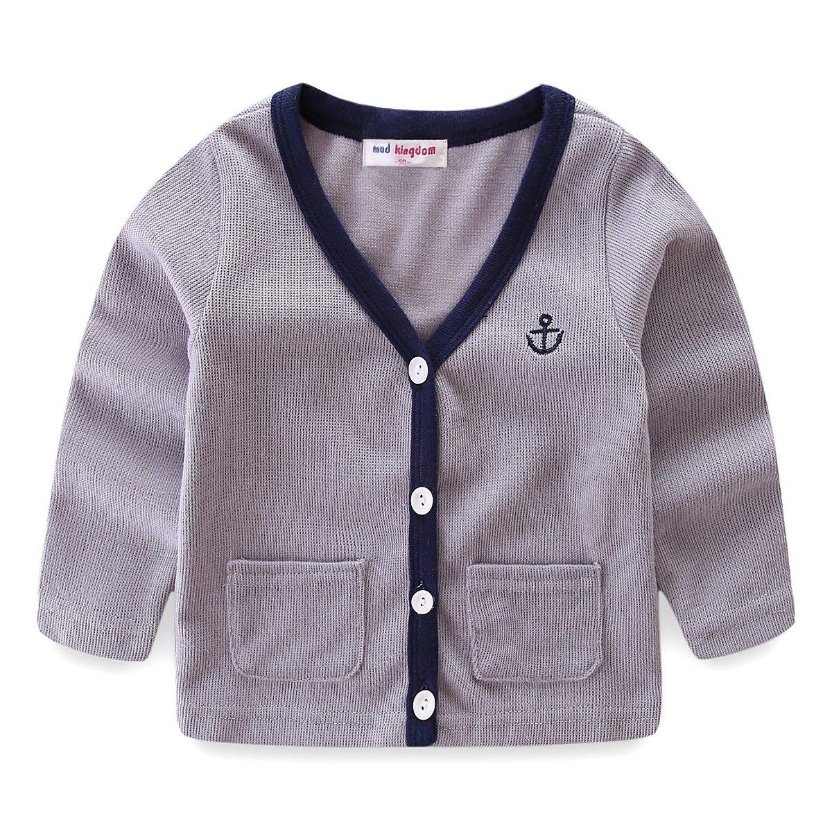 Mud Kingdom Cute Toddler Boy Fall Jacket 3T Plain Gray