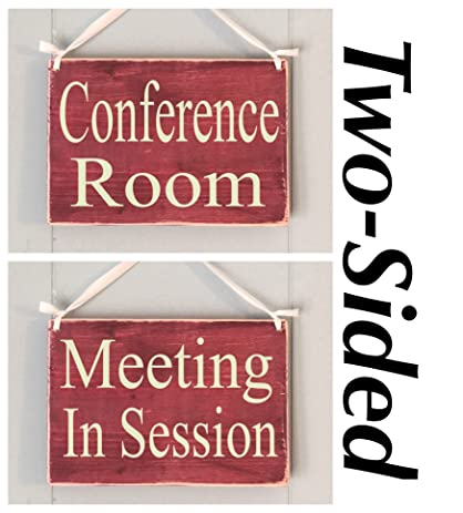 amazon com two sided conference room meeting in session 8x6