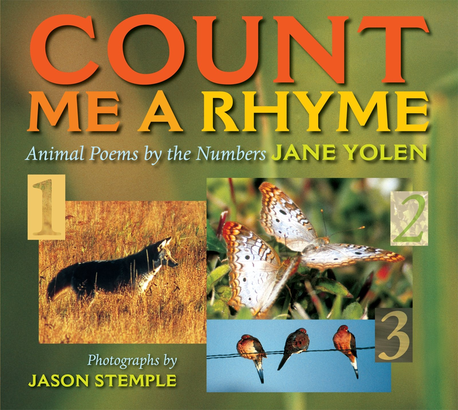 count me a rhyme animal poems by the numbers jane yolen jason