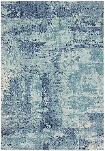 Luxe Weavers Kingsbury Abstract 8×10 Blue Modern Area Rug