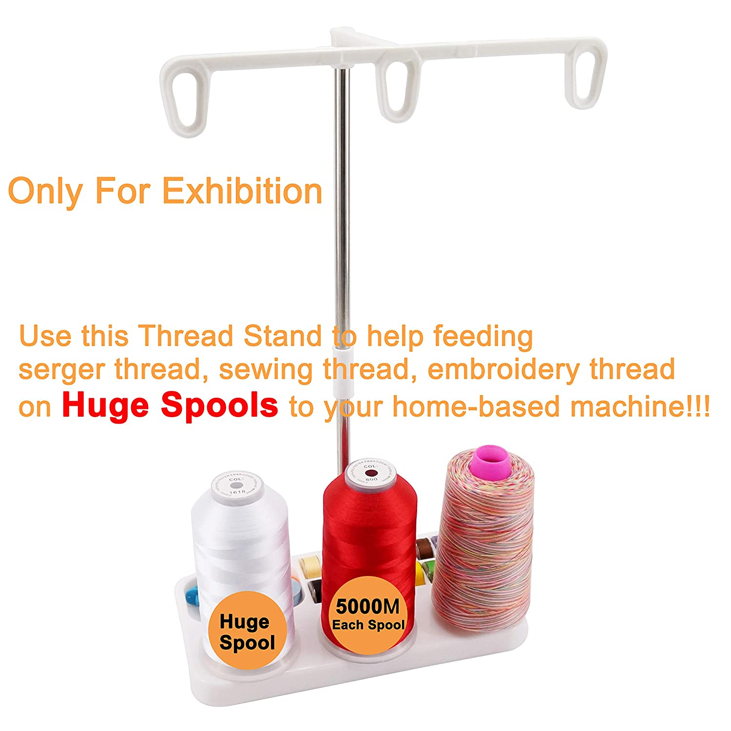 CKPSMS Brand #KP-19004 New Thread Stand-3 Spools Holder for Embroidery,Sewing,Quilting and Serger Machines