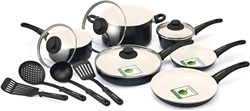 Greenlife CW0004970 Absolutely Healthy Ceramic Nonstick Cookware Set