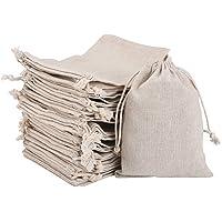 Irich 30 stuks katoenen zakken, biologisch afbreekbare zakken met trekkoord vrijheid Diy Craft geschenkzakken voor…