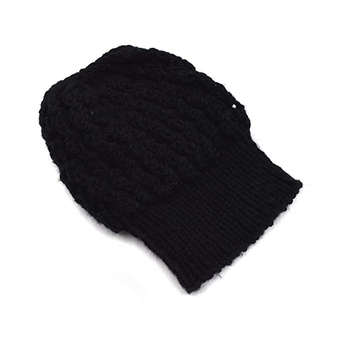 821ae5878fa Magic Needles - Winter Woolen Cap (Handmade Womens Slouchy Shroom Beanie  (Black)