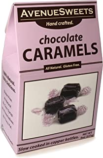 product image for AvenueSweets - Handcrafted Individually Wrapped Soft Caramels - 8 oz Box - Chocolate