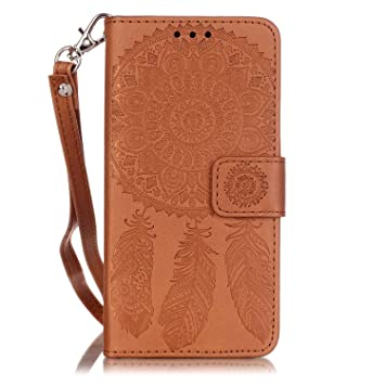 ISAKEN Kompatibel mit Galaxy A3 2016 Hülle, PU Leder Flip Cover Brieftasche Ledertasche Handyhülle Tasche Case Schutzhülle mi