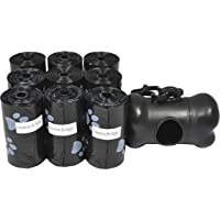 180 Pet Waste Bags, Dog Waste Bags, Bulk Waste Bags on a roll, Clean up Waste Bag Refills - (Color: Black with Paw…