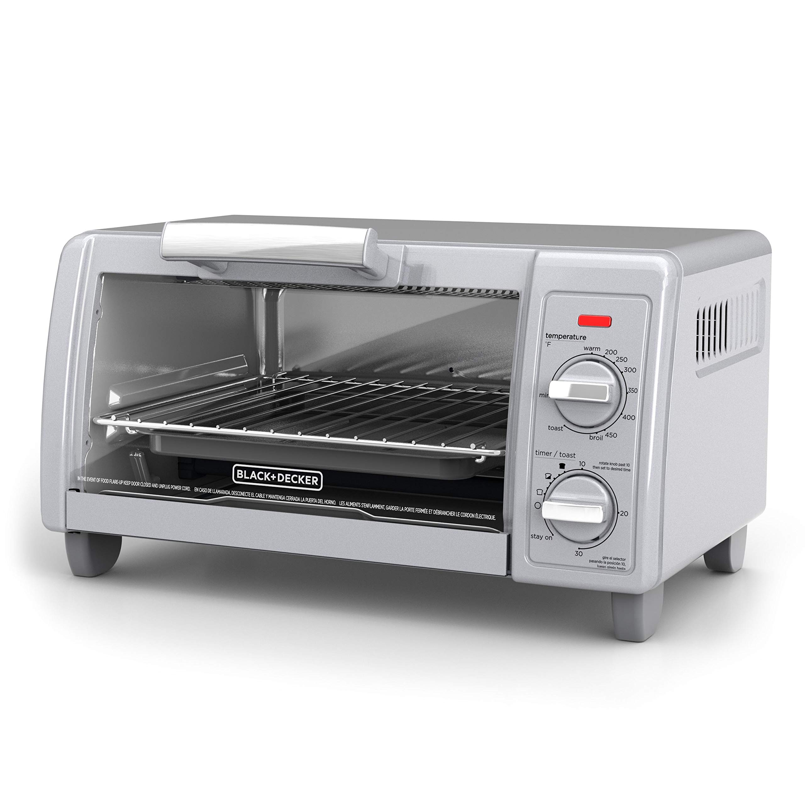 BLACK+DECKER  4-Slice Toaster Oven with Easy Controls, Silver, TO1705SG by BLACK+DECKER