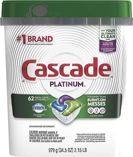 Amazon.com: Cascade Platinum cápsulas de lavaplatos ...