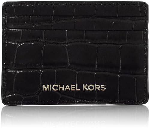72658c2f6d4c8 Michael Kors Womens Jet Set Card Holder Card Case Black (Black)  Amazon.co. uk  Shoes   Bags