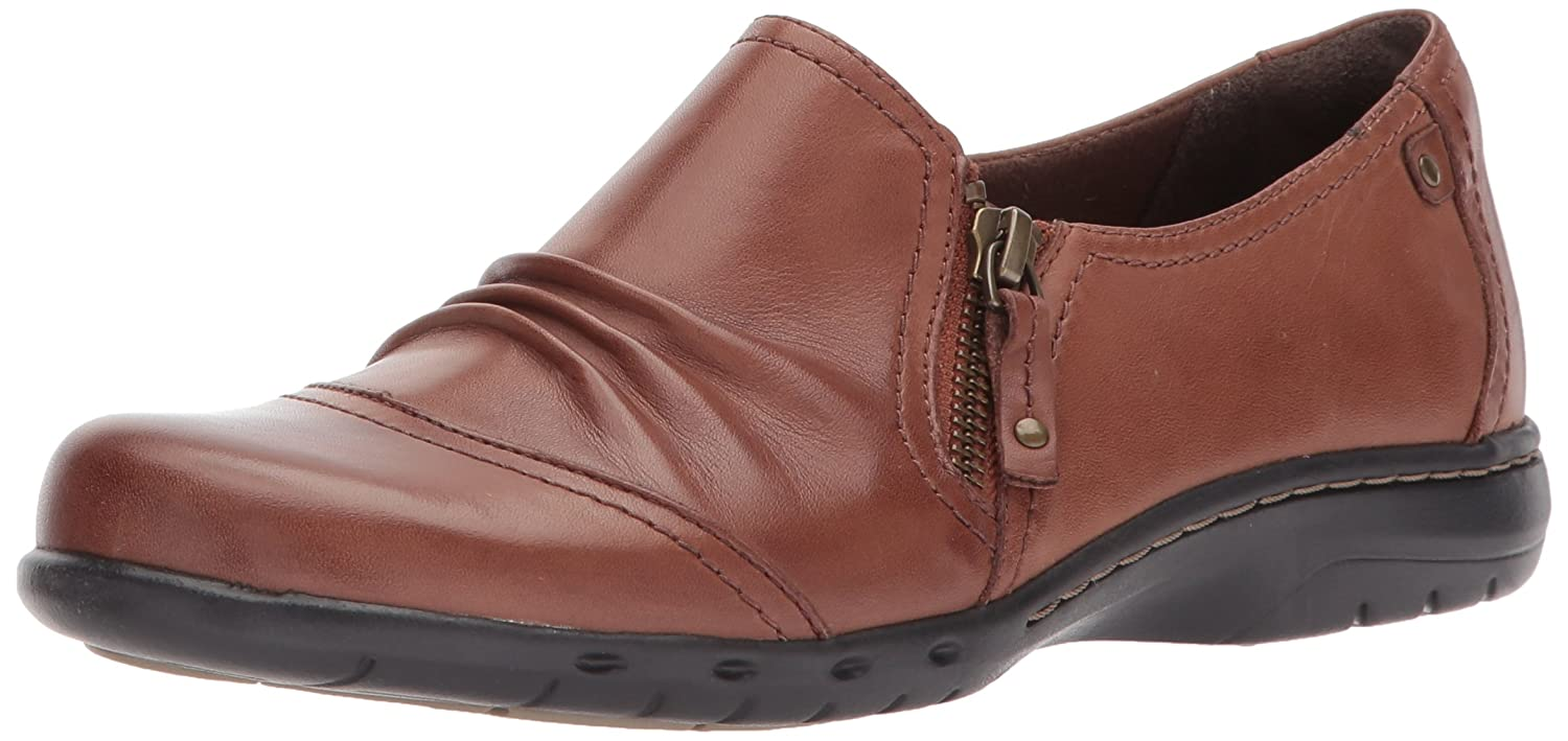 Cobb Hill Women's Penfield Zip Flat B01NAWXCIL 6 C/D US|Almond Leather