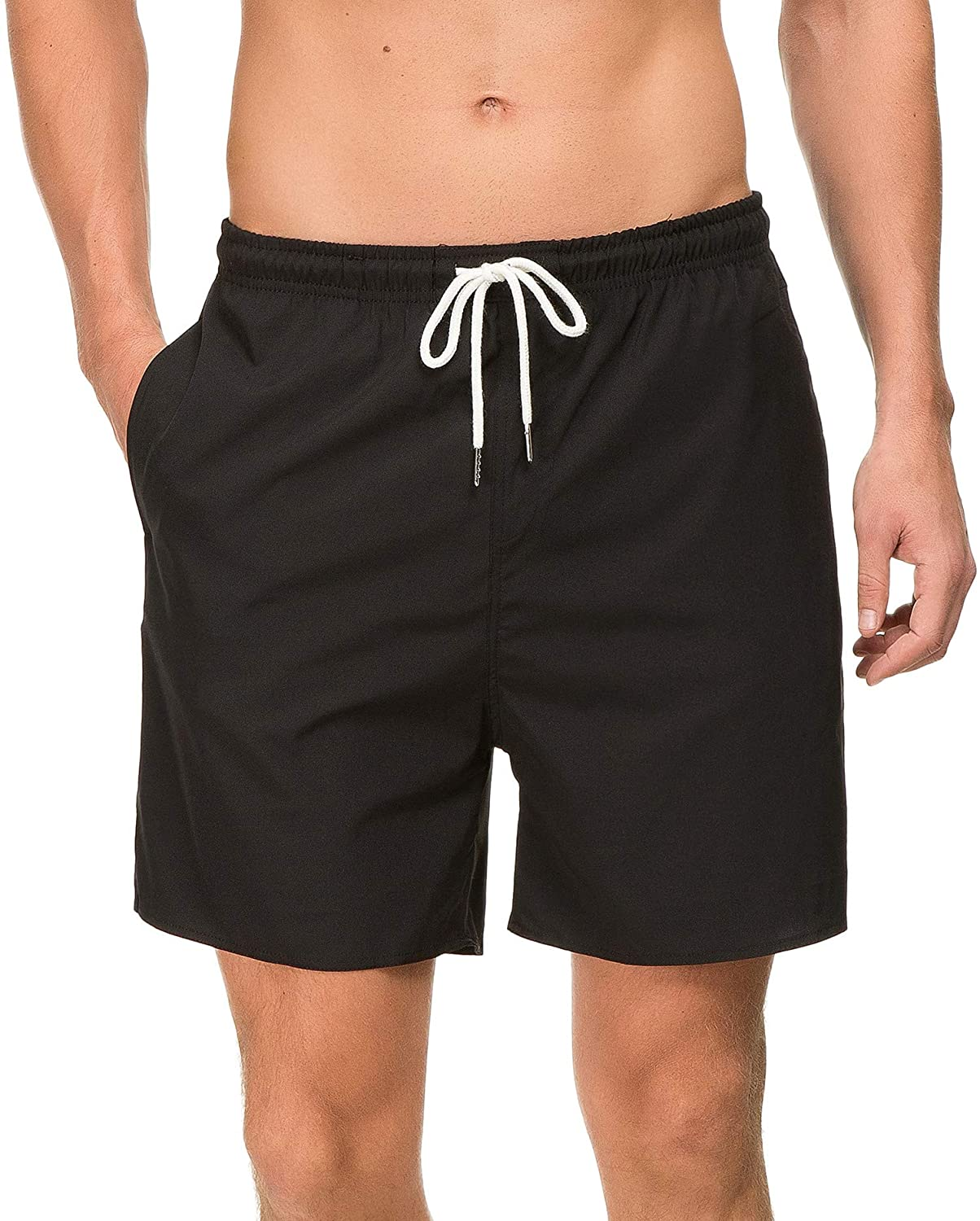 c5038396f0 Amazon.com: Janmid Mens Slim Fit Quick Dry Swim Shorts Swim Trunks Mens  Bathing Suits with Mesh Lining: Clothing