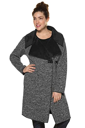 803a5748 Amazon.com: Ulla Popken Women's Plus Size | Plush Knit Warm Coat ...