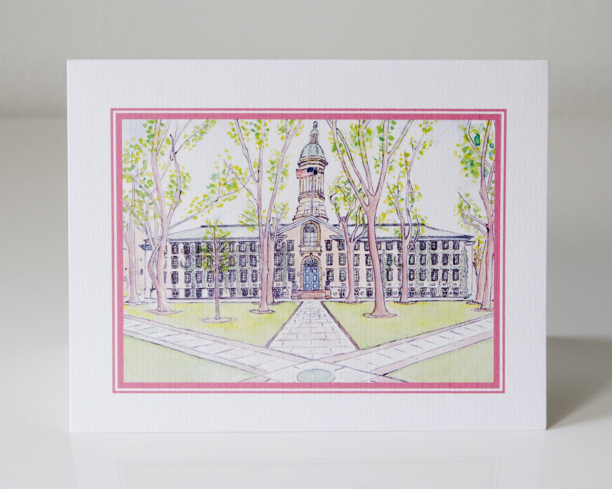 Set of 50 Nassau Hall Greeting Cards by LAURA ANN