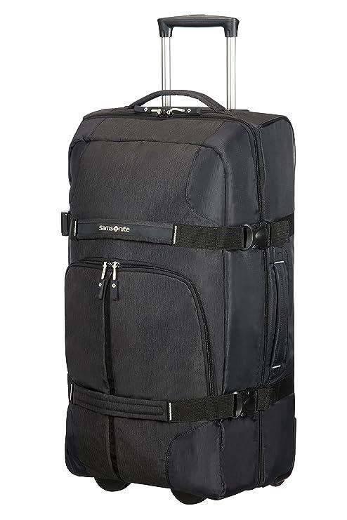 fb00bf95391 Samsonite Rewind Wheeled Duffle, 68 cm, 72.5 Liter, Black: Amazon.co.uk:  Luggage