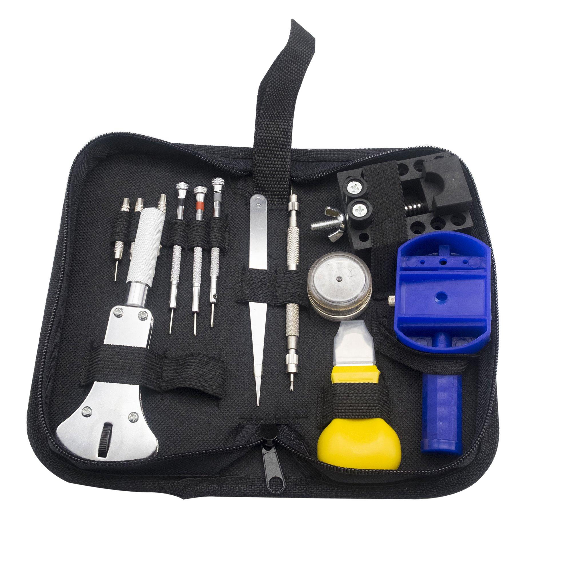 YAOGONG Portable 283 PCS Professional Watch Repair Kit, Light Watch Tool Set