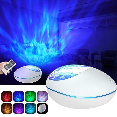 Lámpara Proyector Océano Ola Bluetooth, 360° Rotación Músic ...