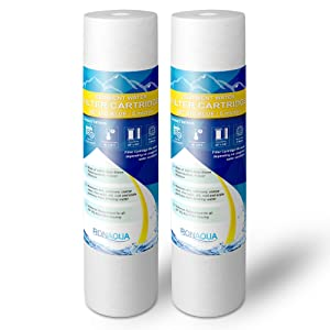 """Big Blue Sediment Replacement Water Filters 5 Micron 4.5""""x20"""" Cartridges WELL-MATCHED with 155358-43, 2PP20BB1M, AP810-2, FPMB-BB5-20, FP25B, P5-20BB, SDC-45-2005 (2 Pack, 20"""")"""