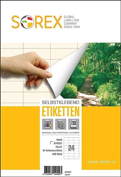SOREX 070037 - Etiquetas autoadhesivas universales para ...