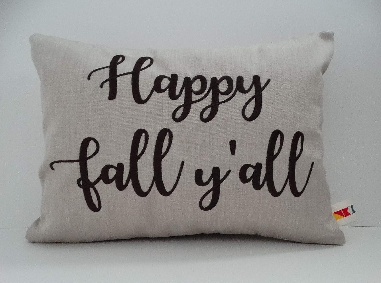 Amazoncom Pillow Cover Happy Fall Pillow Sunbrella