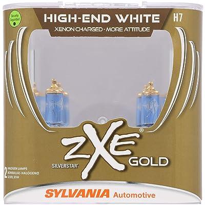 SYLVANIA - H7 (64210) SilverStar zXe GOLD High Performance Halogen Headlight Bulb - Headlight & Fog Light, Bright White Light Output, Best HID Alternative, Xenon Charged Technology (Contains 2 Bulbs): Home Improvement