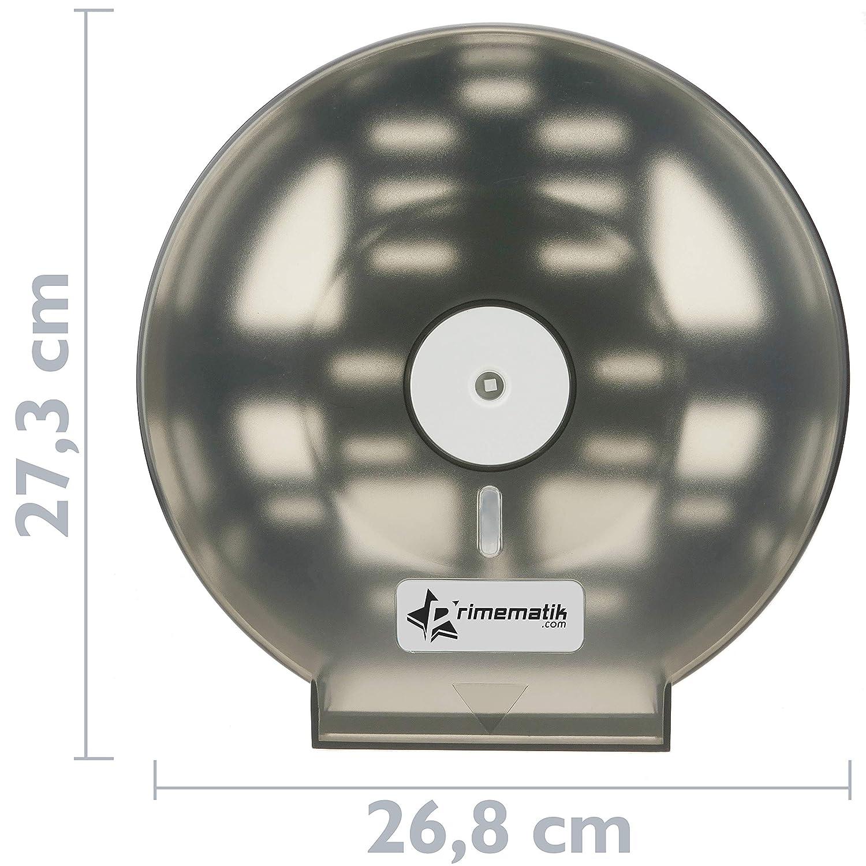 KS041 PrimeMatik Dispensador de Papel higi/énico Portarrollos Industrial Negro para ba/ño