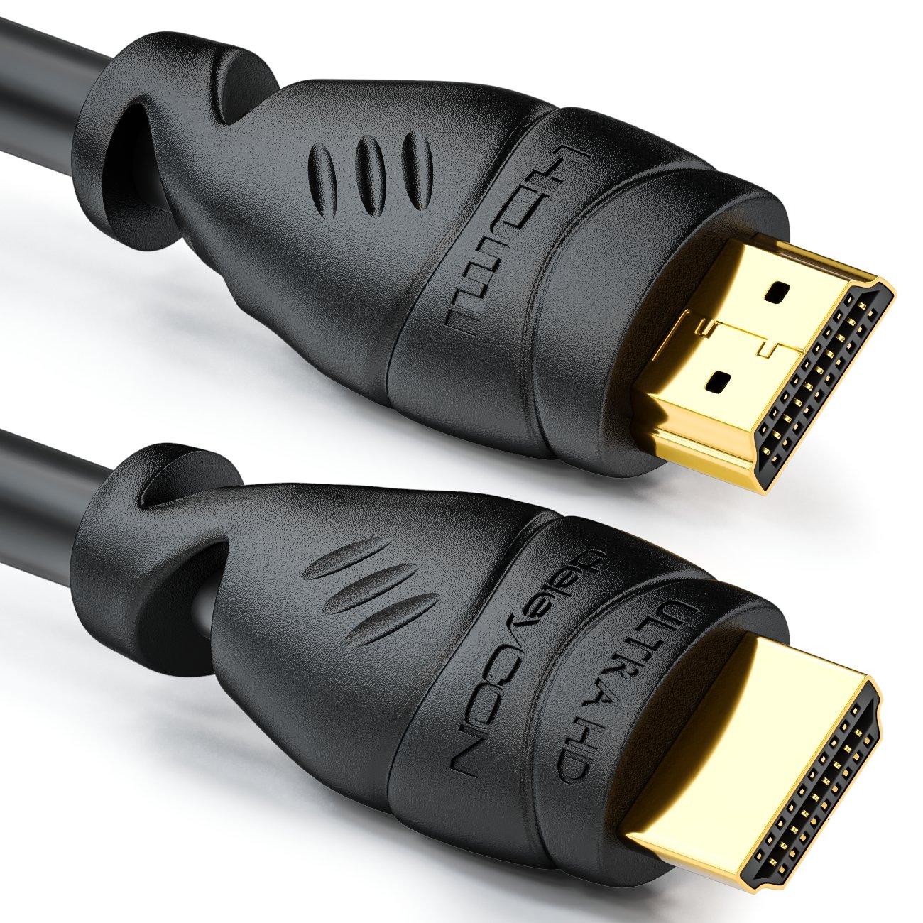 deleyCON 20m Cable HDMI - Compatible con HDMI 2.0a/b/1.4a UHD ...