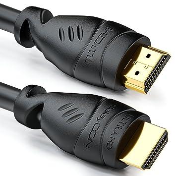 deleyCON 1,5m Cable HDMI - Compatible con HDMI 2.0a/b/1.4a UHD ...