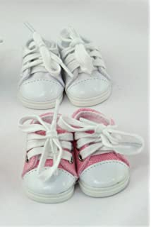 977b36d7ff6a46 American Fashion World 2 Pack of Low Top Sneakers  White and Pink