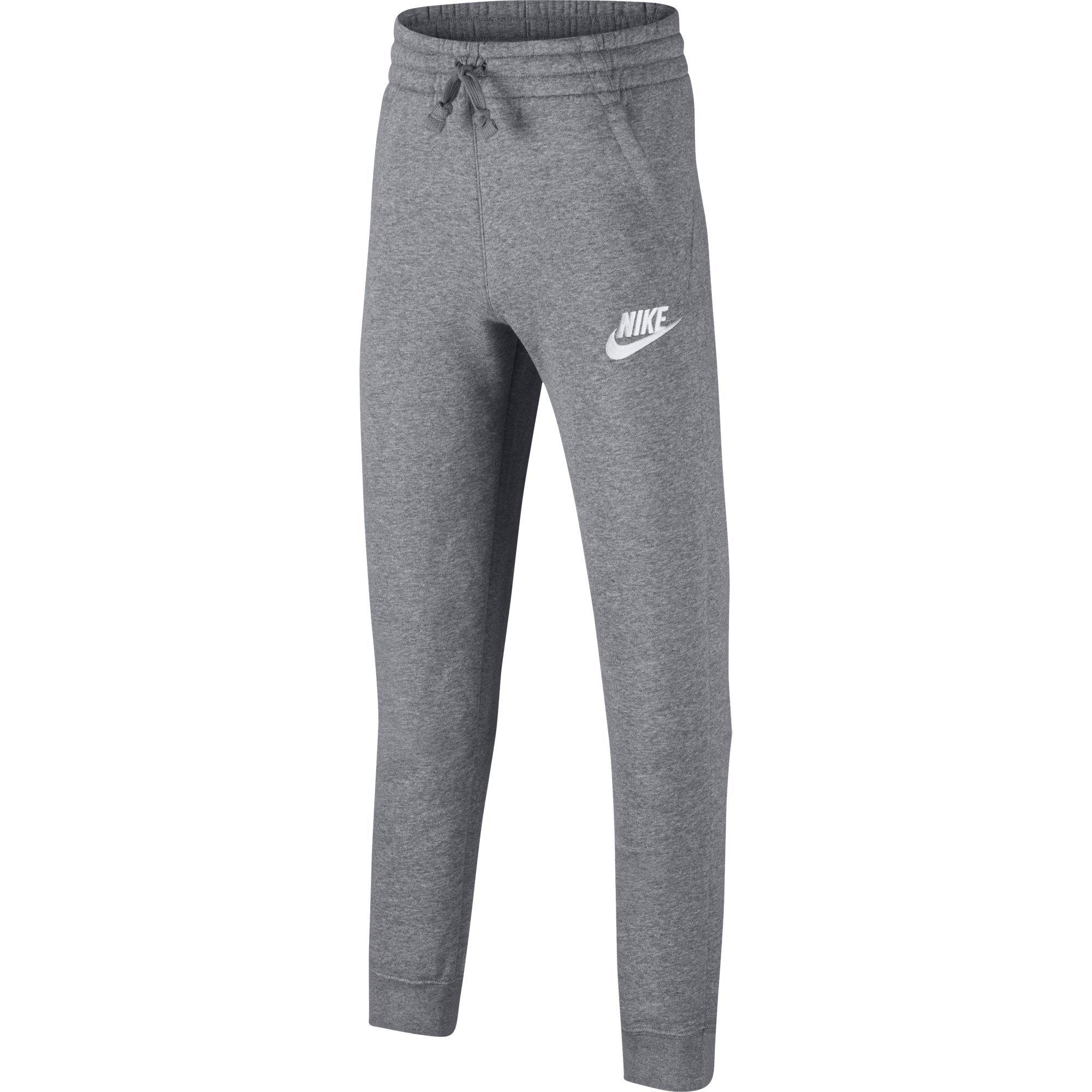 NIKE Sportswear Boys' Club Fleece Joggers, Carbon Heather/Cool Grey/White, X-Small