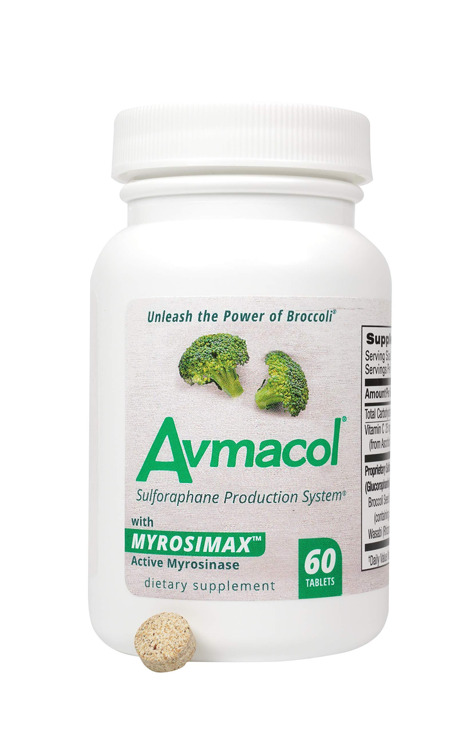 AVMACOL® (60) Sulforaphane Supplement with Myrosinase for Immune Support and detoxification