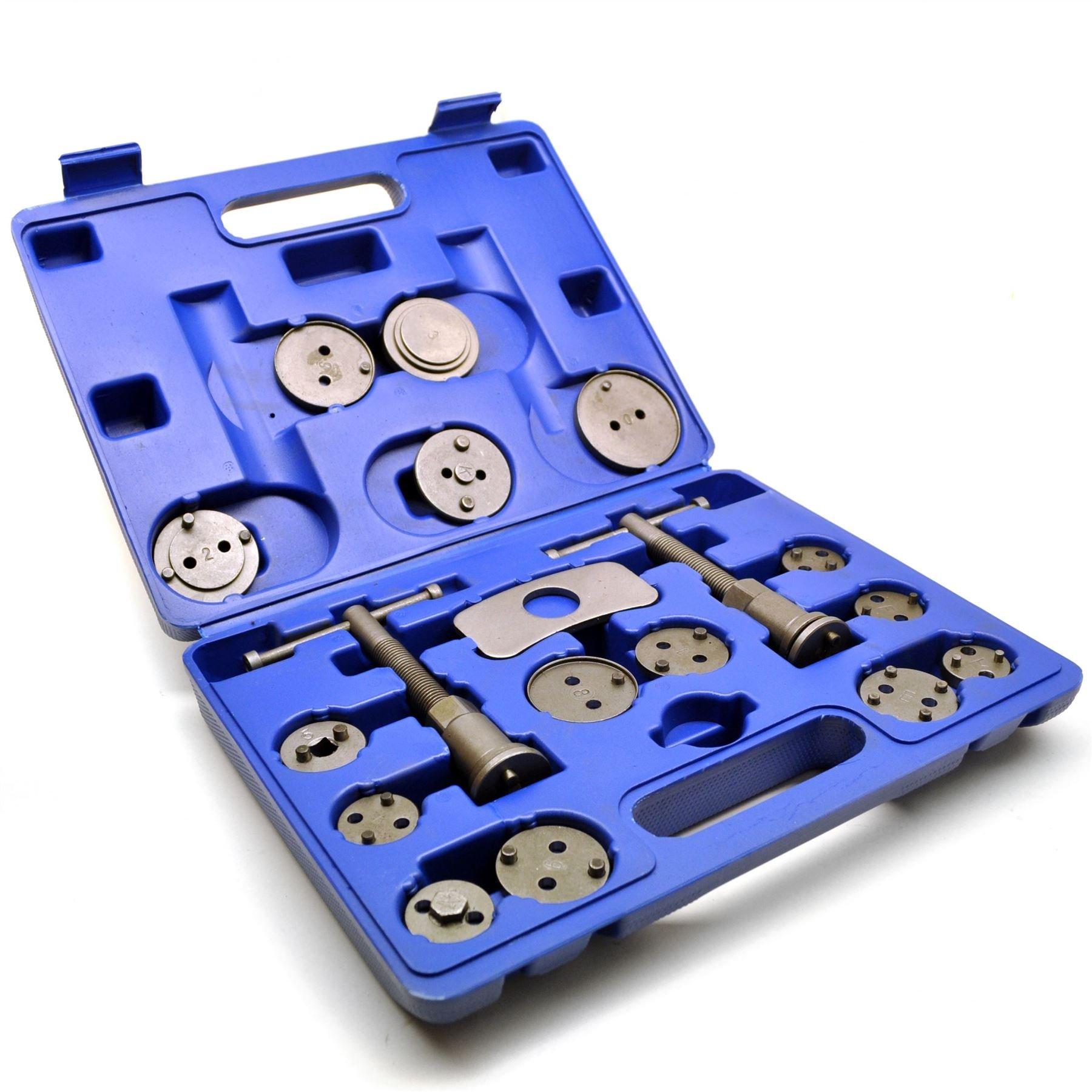 AB Tools-Toolzone 18pc Left & Right Hand Brake Calliper/Calliper Wind Back Tool Piston Kit TE420