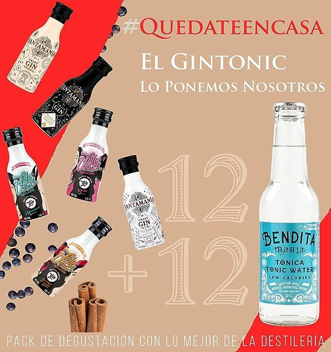 Pack degustación SANTAMANIA - Surtido 12 gintonics craft: Amazon.es: Alimentación y bebidas