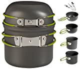 Wealers Cookware 7 Pieces Kit Cookset Backpacking