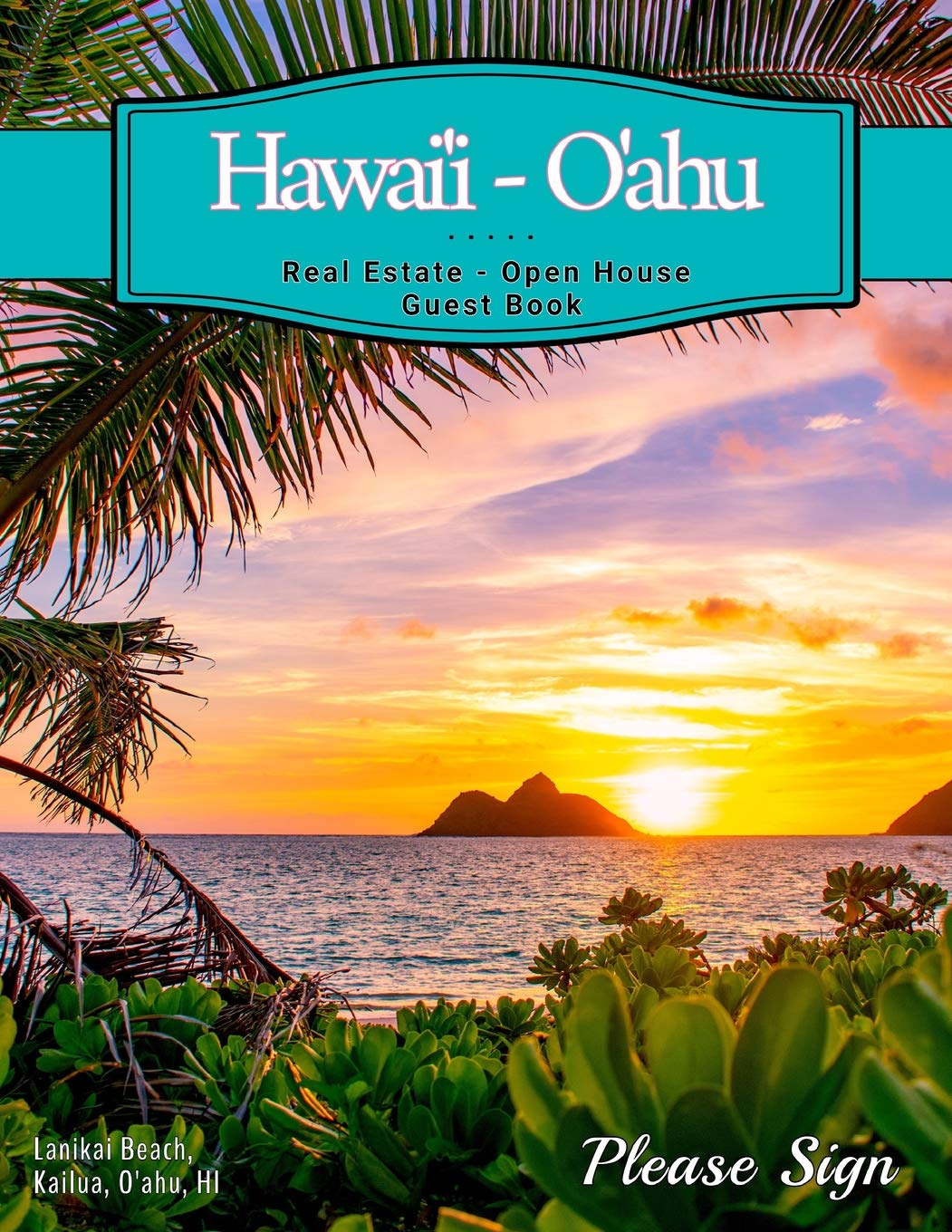 Hawaii Oahu Real Estate Open House Guest Book Spaces For